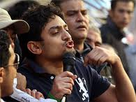 Wael Ghonim in Tahrir Square